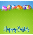 Easter background and egg in grass vector image vector image