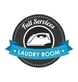laundry full service design vector image