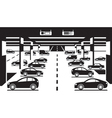 Underground car parking vector image