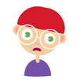 cartoon angry boy vector image