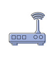 color router digital wifi technology network vector image