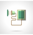 Eco electric device flat color design icon vector image