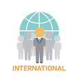 international businesspeople team cooperation vector image