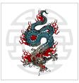 japanese dragon tattoo vector image