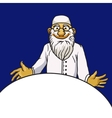 Kind old bearded doctor character isolated vector image