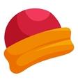 Santa Claus hat icon cartoon style vector image