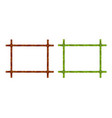 set of bamboo frame vector image
