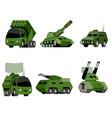 six military vehicle vector image