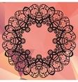 Stylized mandala Geometric circle element made in vector image