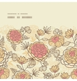 Vintage brown pink flowers horizontal frame vector image
