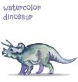 watercolor dinosaur vector image