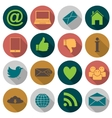 web Flat icons vector image
