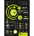 infographics set and Information technology vector image vector image