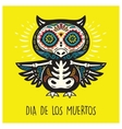 Dia De Los Muertos Greeting card with sugar skull vector image