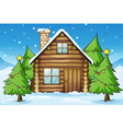 wooden house vector image vector image