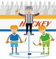 hockey is a team game vector image