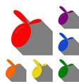olive sign  set of red orange vector image