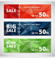 sale discount banners set with polygonal abstract vector image