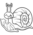 Snail and lettuce coloring page vector image
