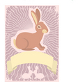 rabbit scroll vector image vector image