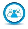 Blue leader icon vector image vector image