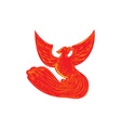 Phoenix Rising Etching vector image vector image