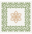 decorative frame in the Celtic style vector image