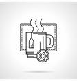 Christmas tea flat line icon vector image