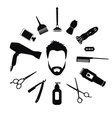 Set of Barber tools for men vector image