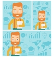 Happy successful businessman vector image vector image