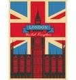 Big Ben against the British flag vector image
