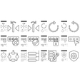 Content Edition line icon set vector image