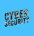 cyber security safety design with related icons vector image