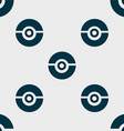 pokeball icon sign Seamless pattern with geometric vector image