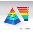 Pyramid infographic colorful vector image