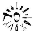 Set of Barber tools for men vector image