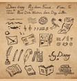 set of education and writing instruments vector image