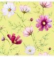 Watercolor wild flowers pattern vector image