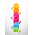 Six steps arrows for presentations vector image