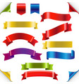 big color ribbons set vector image vector image