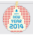Happy new year 2014 card44 vector image