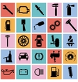 Collection flat icons Car symbols vector image