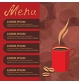 Corporate identity of menu cafe background coffee vector image
