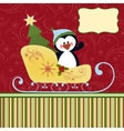 Blank template for Christmas greetings card vector image vector image