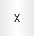 black letter x and v logo sign vector image