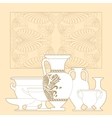 Ceramic Ethnic national Greek style seamless vector image