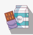 chocolate bar with milk to habits of nutrition vector image