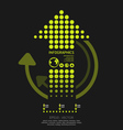 Infographics set dots arrows Modern style vector image