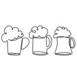 pint of beer one line drawing vector image