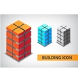 set of colorful 3d office building vector image